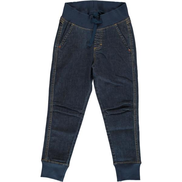 Maxomorra Pants Denim Jogger Medium Dark Wash