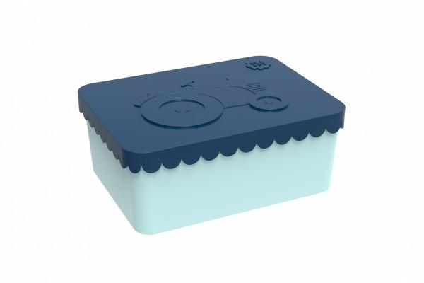 Blafre Lunchbox klein Traktor dunkelblau/blau