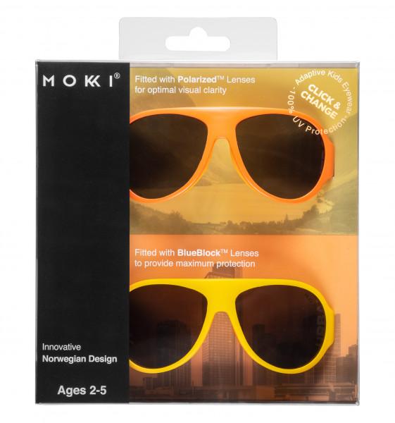 Mokki Sonnenbrillen Click & Change Orange 2-5 Jahre