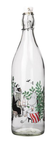 Muurla Mumin Tag im Garten Glasflasche 1 Liter