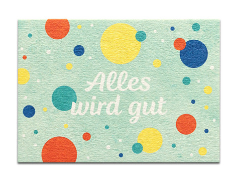 "Tante Trudel Karte ""Alles wird gut"""