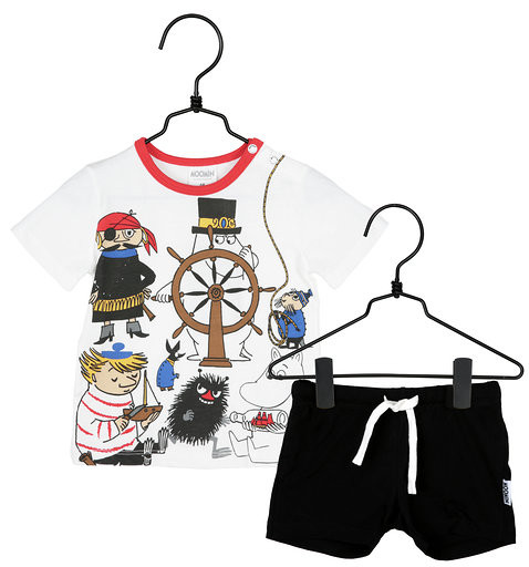 Martinex Mumin Pirate Shorts und T-Shirt Set