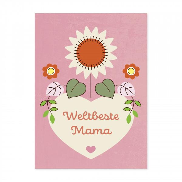 Monimari Karte Weltbeste Mama