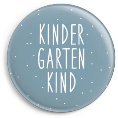 Ava & Yves Button Kindergartenkind blau