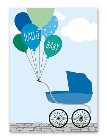 "Tante Trudel Karte ""Baby Balloon Junge"""